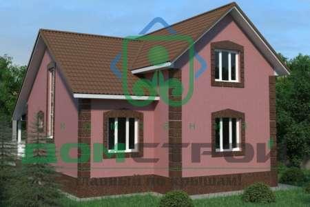 Небольшой усадебный дом в классическом стиле с выразительным силуэтом крыши